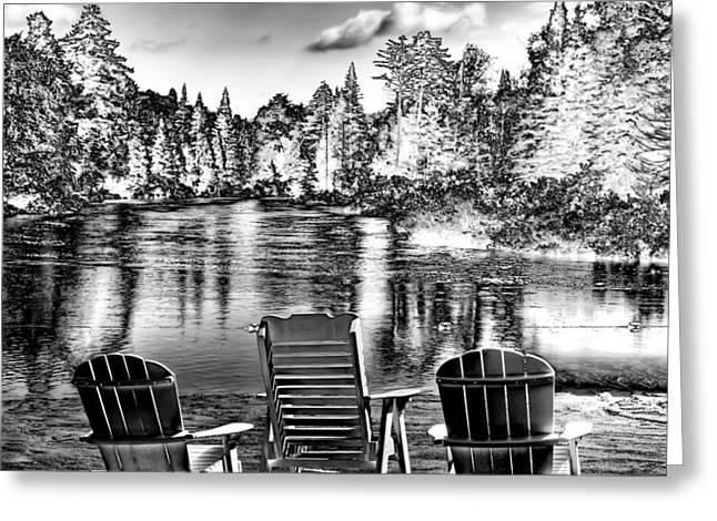 Adirondack Reflections Greeting Card by David Patterson