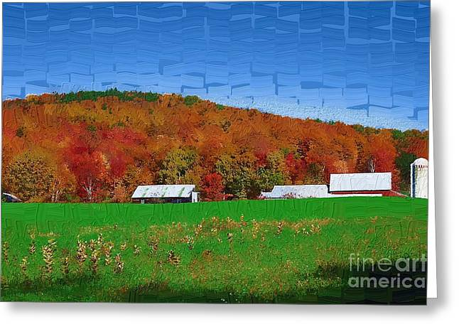 Adirondack Rural Greeting Card by Diane E Berry