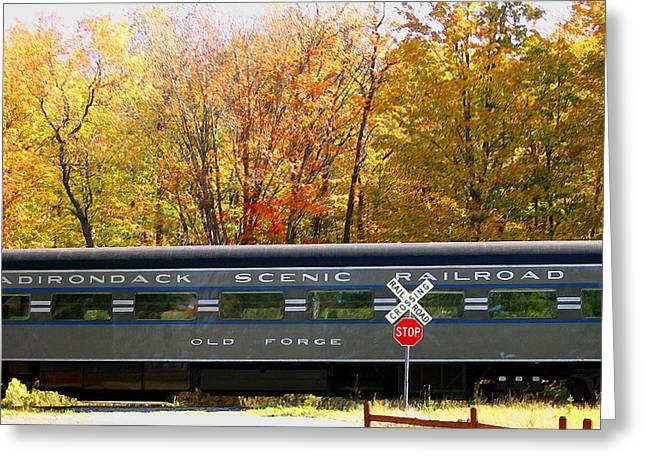 Adirondack Scenic Railroad Greeting Card by Steve Ohlsen