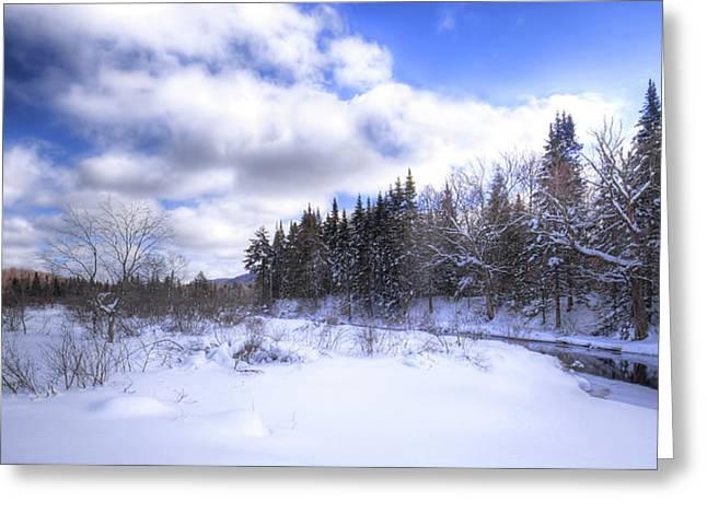 Adirondack Snowscape Greeting Card
