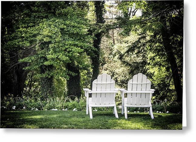 Adirondack Tranquility Greeting Card by Robert Anastasi