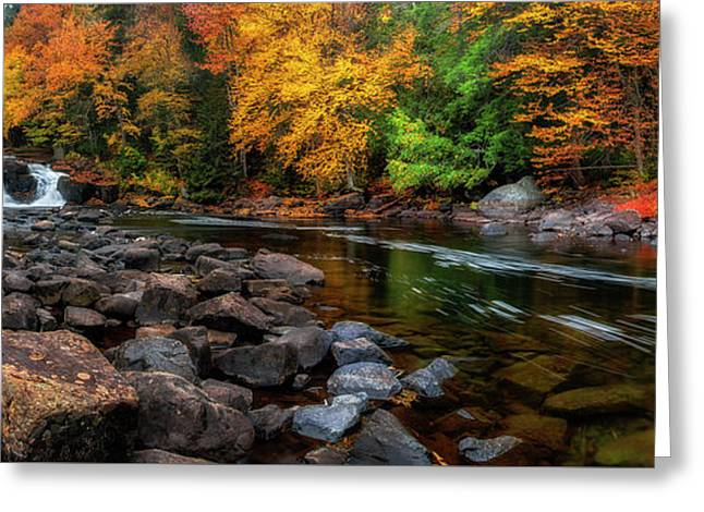 Adirondacks Buttermilk Falls Greeting Card by Mark Papke