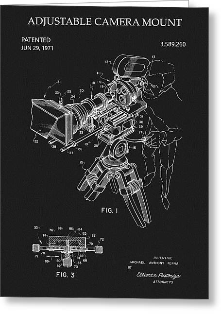 Adjustable Camera Mount Patent Greeting Card
