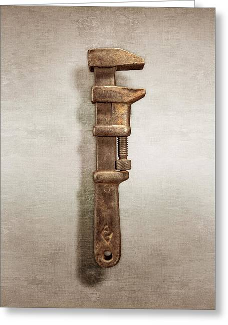 Adjustable Iron Wrench Right Face Greeting Card by YoPedro