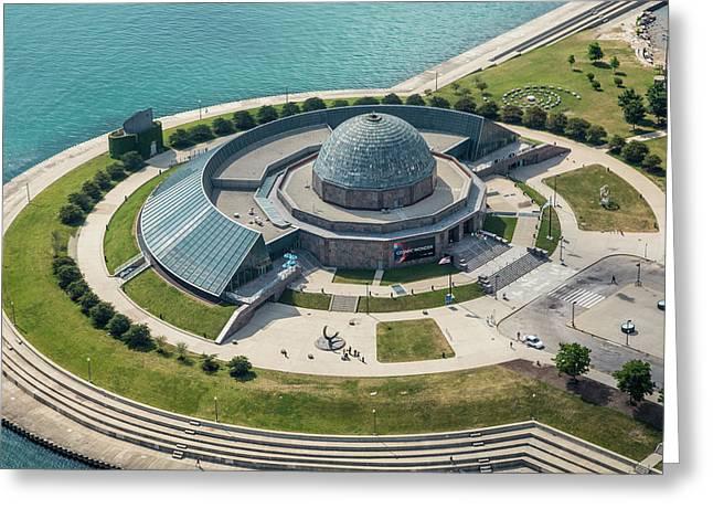 Adler Planetarium Aerial Greeting Card