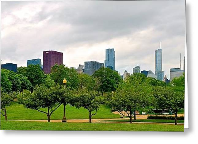 Adler Planetarium Panorama Greeting Card by Frozen in Time Fine Art Photography