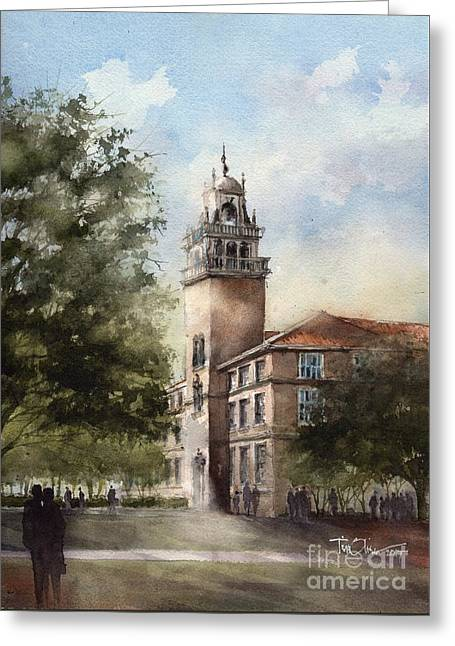 Administration Building At Texas Tech University Greeting Card by Tim Oliver