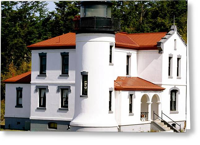 Admirality Head Lighthouse Greeting Card by Sonja Anderson
