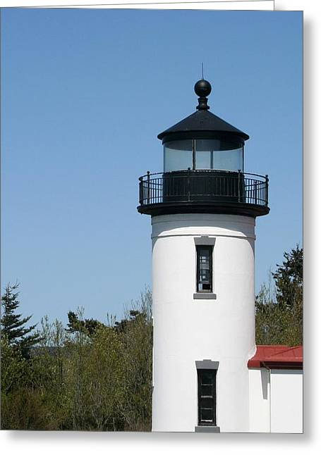 Admiralty Head Lighthouse Li2001 Greeting Card by Mary Gaines