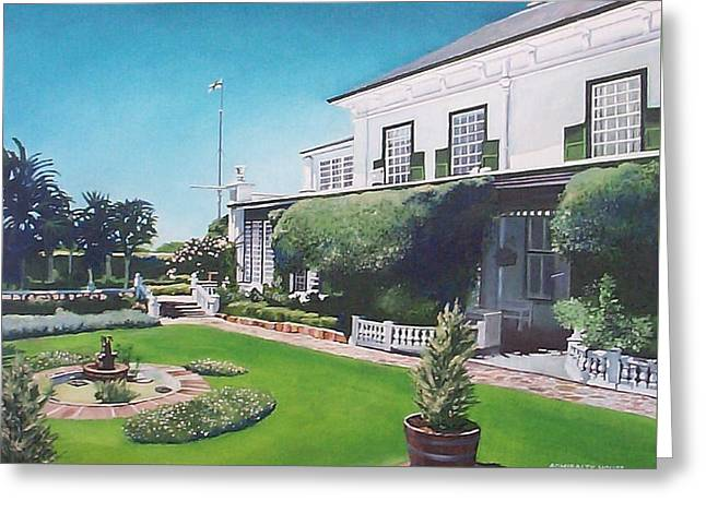 Greeting Card featuring the painting Admiralty House by Tim Johnson