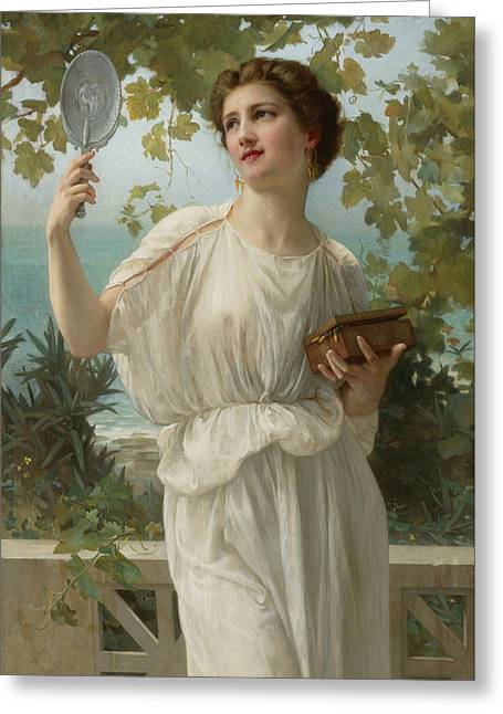 Admiring Beauty Greeting Card by Guillaume Seignac