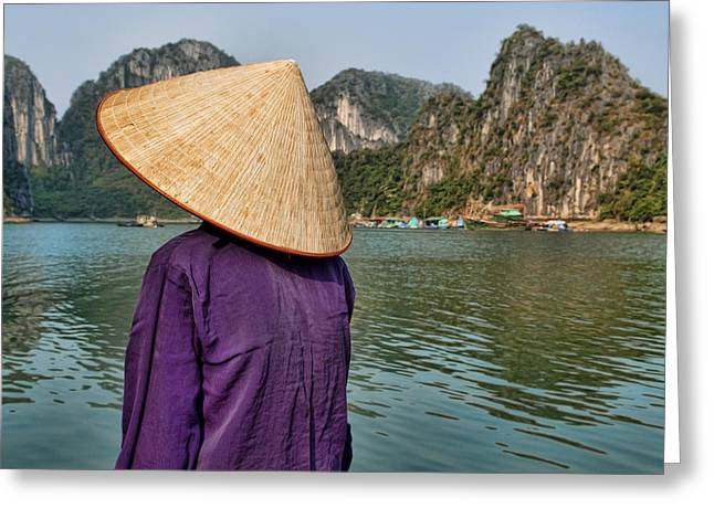 Admiring Ha Long Bay Greeting Card