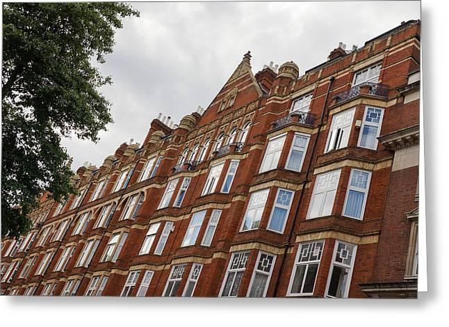 Admiring London Victorian Architecture - Crawford Street Marylebone Greeting Card by Georgia Mizuleva