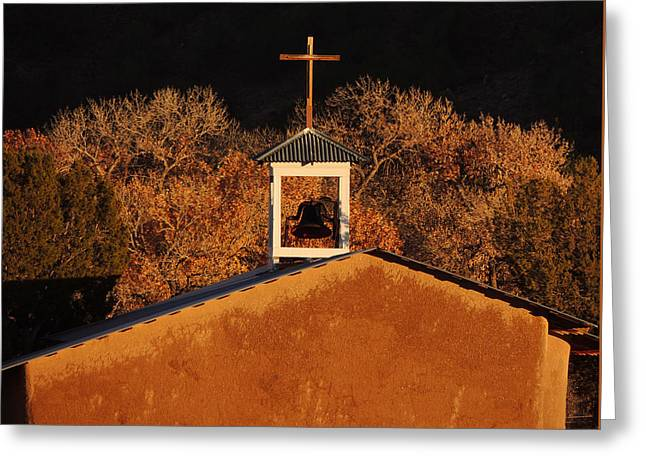 Adobe Church At San Ildefonso Pueblo In Northern New Mexico Greeting Card