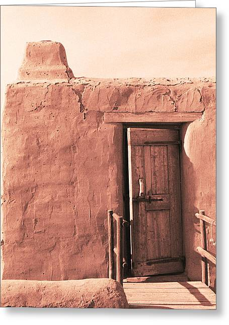 Adobe Doorway Greeting Card by Eric Foltz