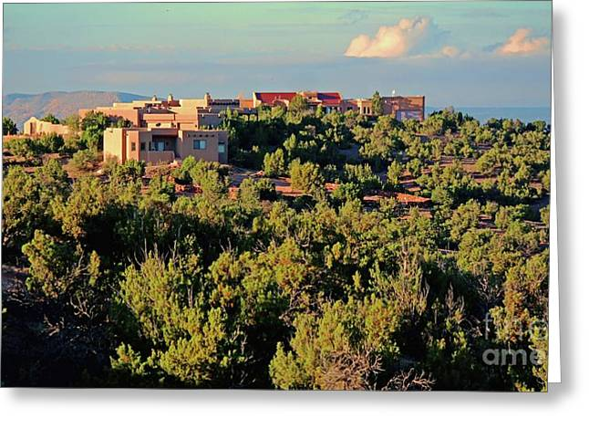 Greeting Card featuring the photograph Adobe Homestead Santa Fe by Diana Mary Sharpton
