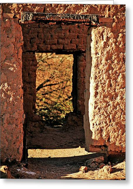 Adobe Ruin Greeting Card by Charles Benavidez