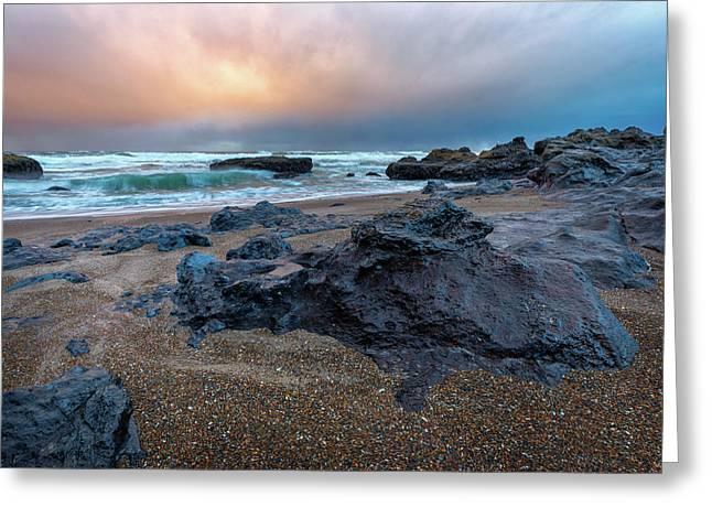 Adobe Sunset Greeting Card by C Steele