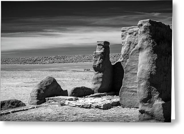 Greeting Card featuring the photograph Adobe Walls by James Barber