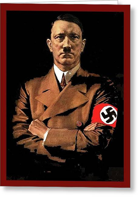 Adolf Hitler Painting Circa  1940 Color Added 2016 Greeting Card