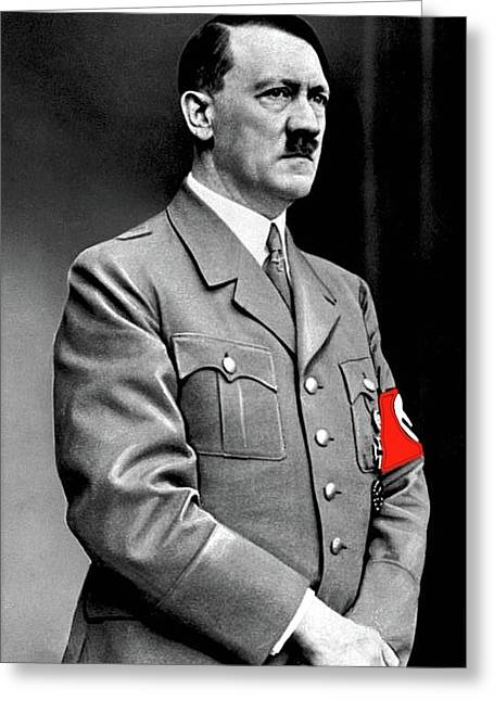 Adolf Hitler The Visionary Circa 1941 Color Added 2016 Greeting Card