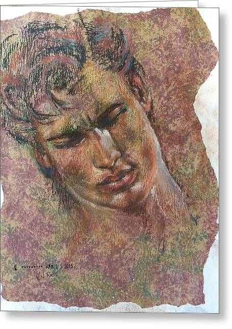 Adonis Greeting Card by Vicki Ross