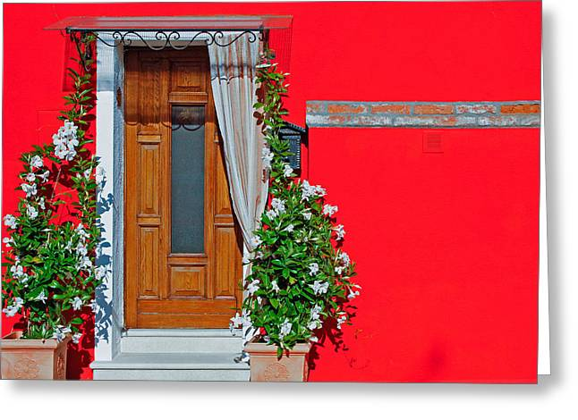 Greeting Card featuring the photograph A-door-ned by Rick Locke