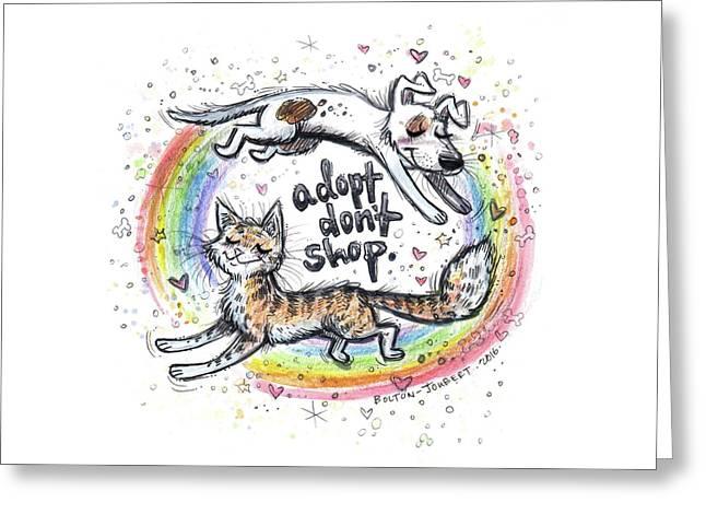 Adopt Don't Shop. Greeting Card