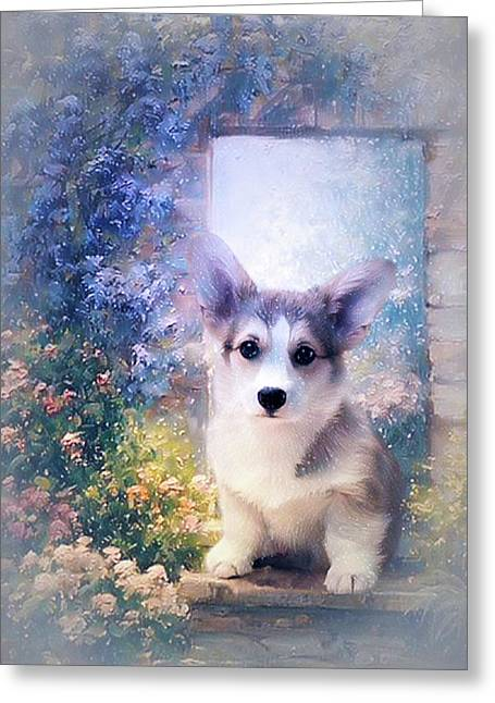 Adorable Corgi Puppy Greeting Card