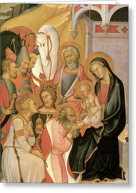Adoration Of The Magi Di Fred Greeting Card by Bartolo Di Fredi