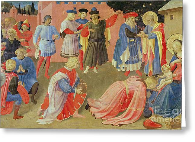 Adoration Of The Magi Greeting Card by Fra Angelico