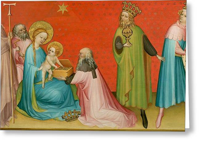 Adoration Of The Magi With Saint Anthony Abbot Greeting Card by Mountain Dreams