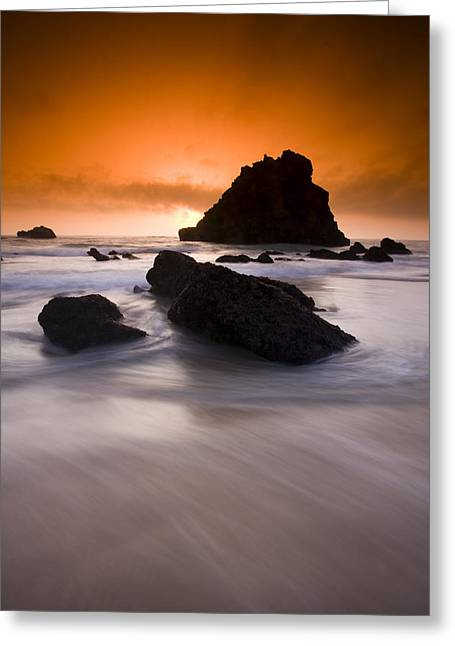Adraga Beach Greeting Card by Andre Goncalves