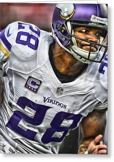 Adrian Peterson Art 1 Greeting Card