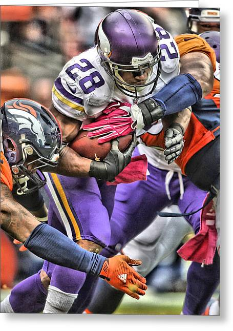 Adrian Peterson Art 4 Greeting Card
