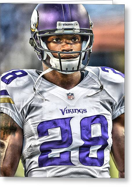 Adrian Peterson Art 5 Greeting Card