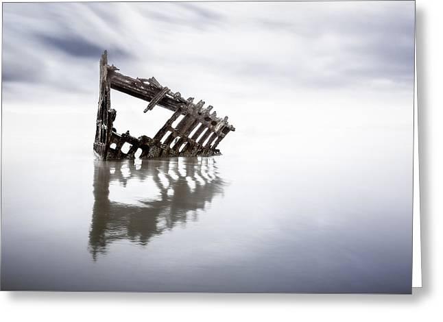 Adrift At Sea Greeting Card by Eduard Moldoveanu