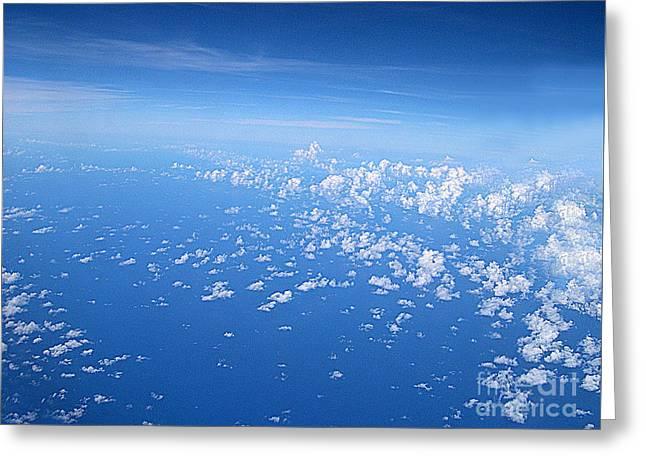 Adrift In A Sea Of Calm Greeting Card by Addie Hocynec