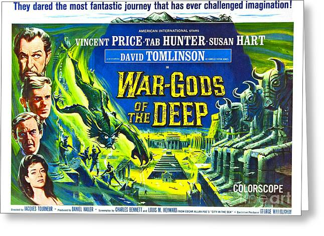 Adventure Movie Poster 1965 Greeting Card by Padre Art