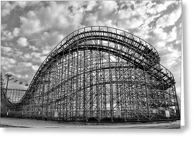 Adventureland Pier Rollercoaster - Wildwood New Jersey Greeting Card