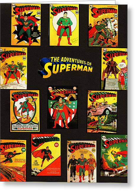 Adventures Of Superman Greeting Card