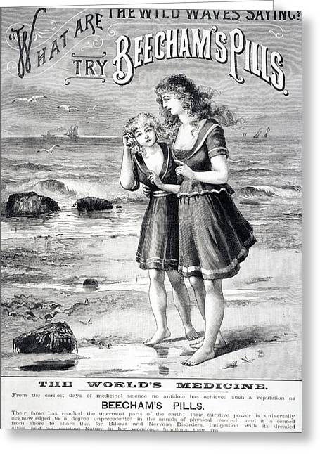 Advertisement For Beecham S Pills From Greeting Card