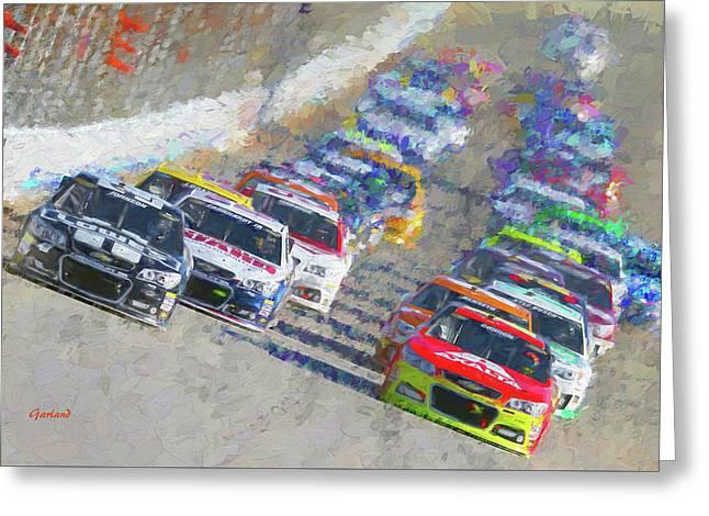 Nascar Racing Greeting Card