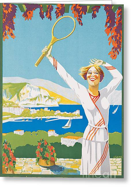 Advertising Poster For Beaulieu-sur-mer Greeting Card by French School