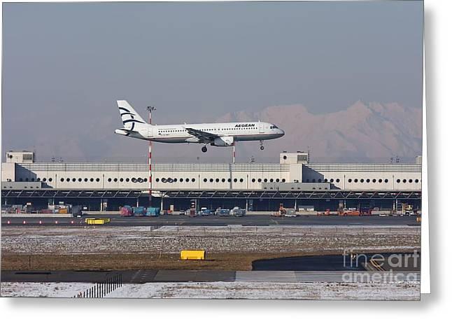 Aegean Airbus A320 003 - Sx-dvt Greeting Card