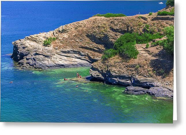 Aegean Coast In Bali Greeting Card