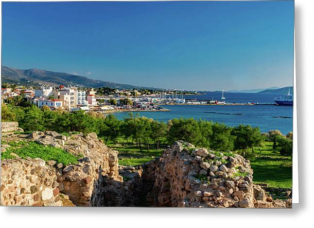 Aegina Harbor From Apollo's Temple Greeting Card by Jebulon