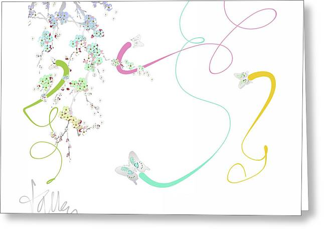 Greeting Card featuring the mixed media Spring Fervor by Larry Talley