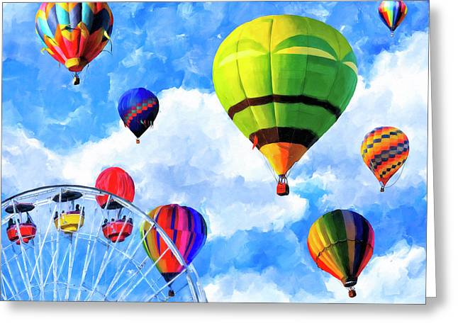 Aerial Birth Greeting Card by Mark Tisdale