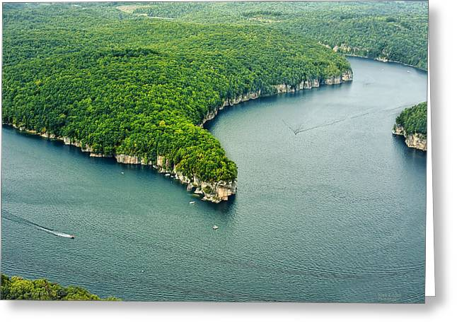 Aerial Image Of  Long Point Cliff Greeting Card by Mark Allen